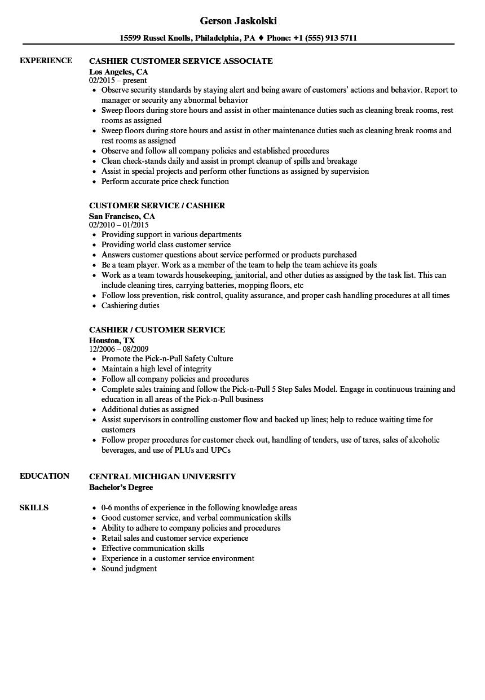 Custom service resume