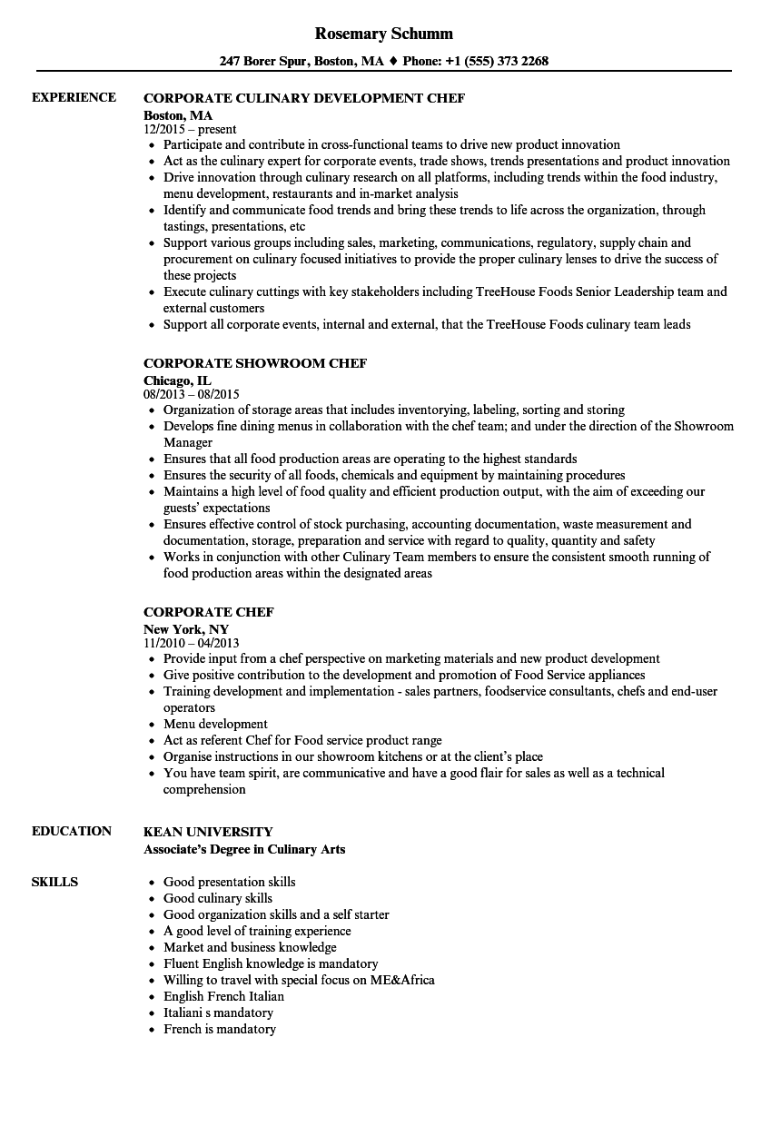 executive chef resume  louiesportsmouth