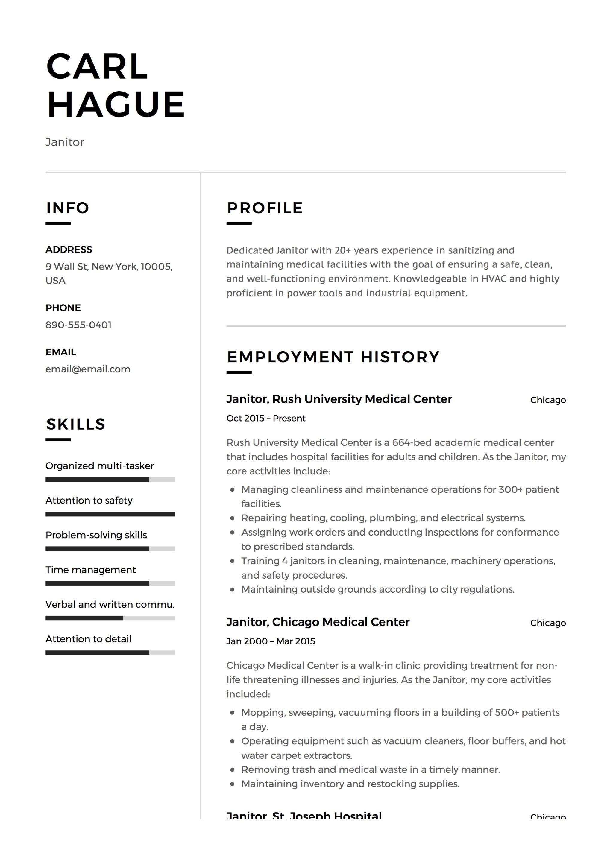 janitor resume sample  louiesportsmouth
