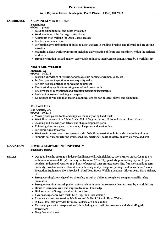 Welding Resume Template Louiesportsmouth Com