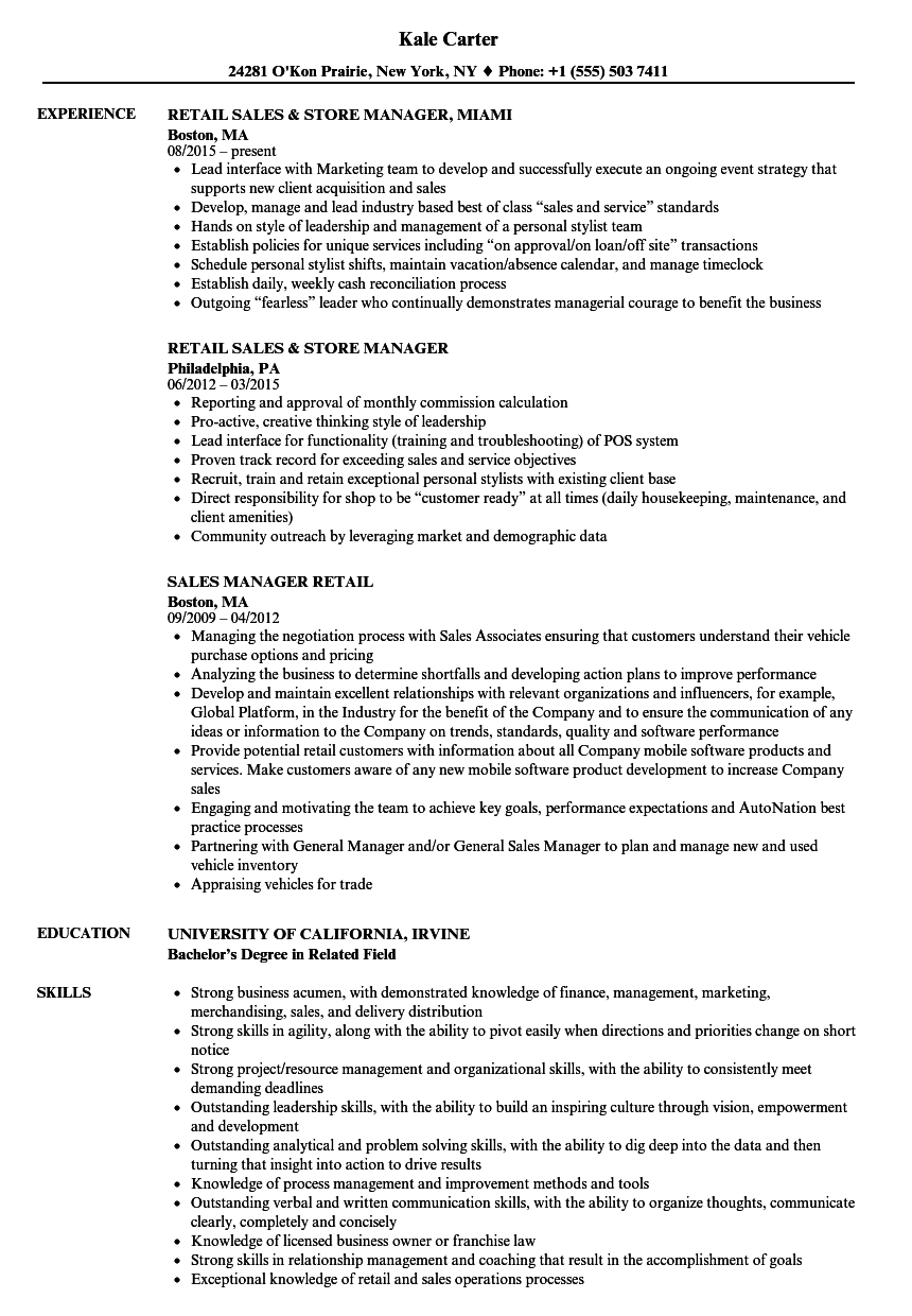 retail resume examples  louiesportsmouth