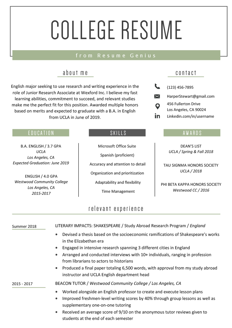 Student Resume Template Louiesportsmouth Com