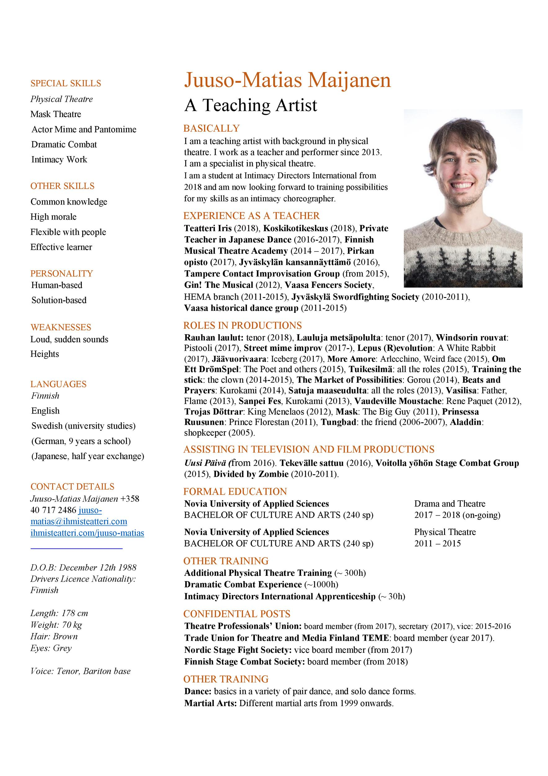 actor resume sample  louiesportsmouth