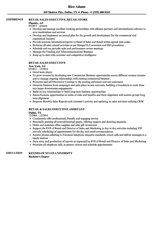 Retail Sales Resume | louiesportsmouth.com
