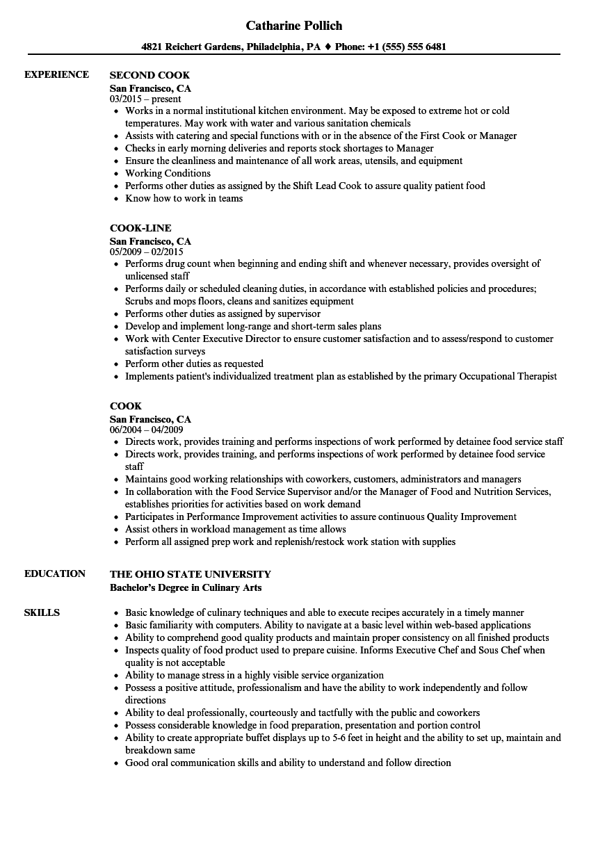 dietary cook resume  louiesportsmouth