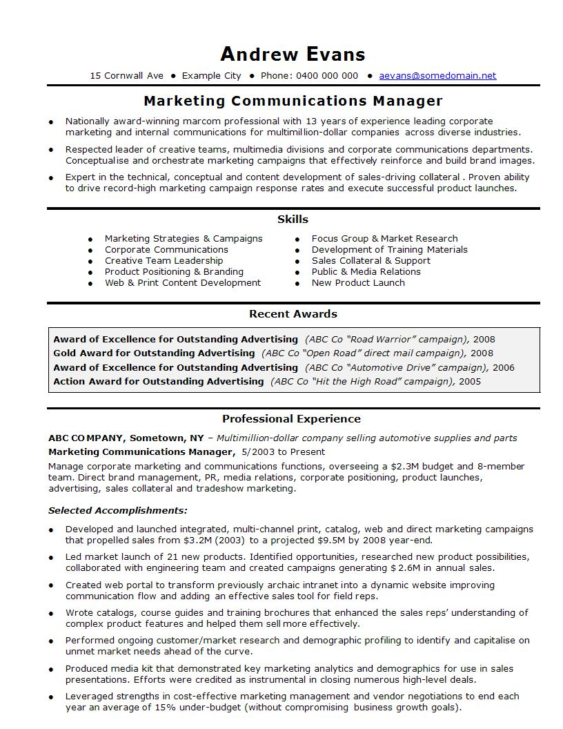 sales and marketing resume template  louiesportsmouth
